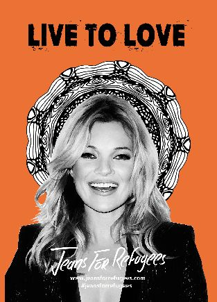 Kate Moss is part of Jeans for Refugees project