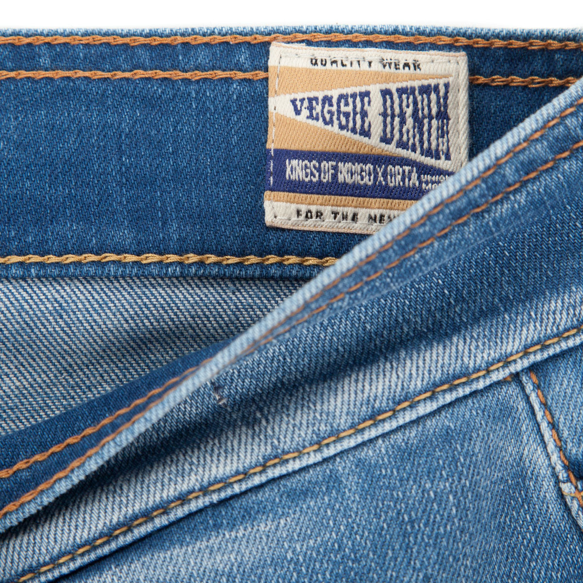 The Veggie capsule collection uses an organic denim fabric by Orta.