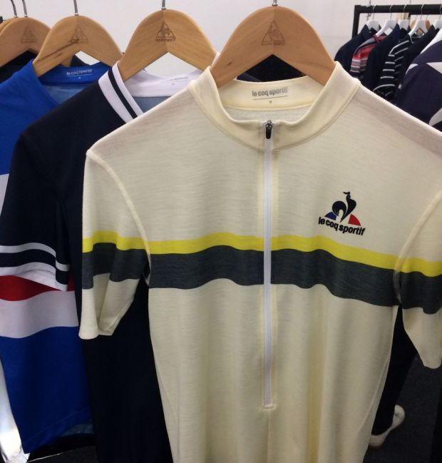 Knitted cycling shirt by Le Coq Sportif