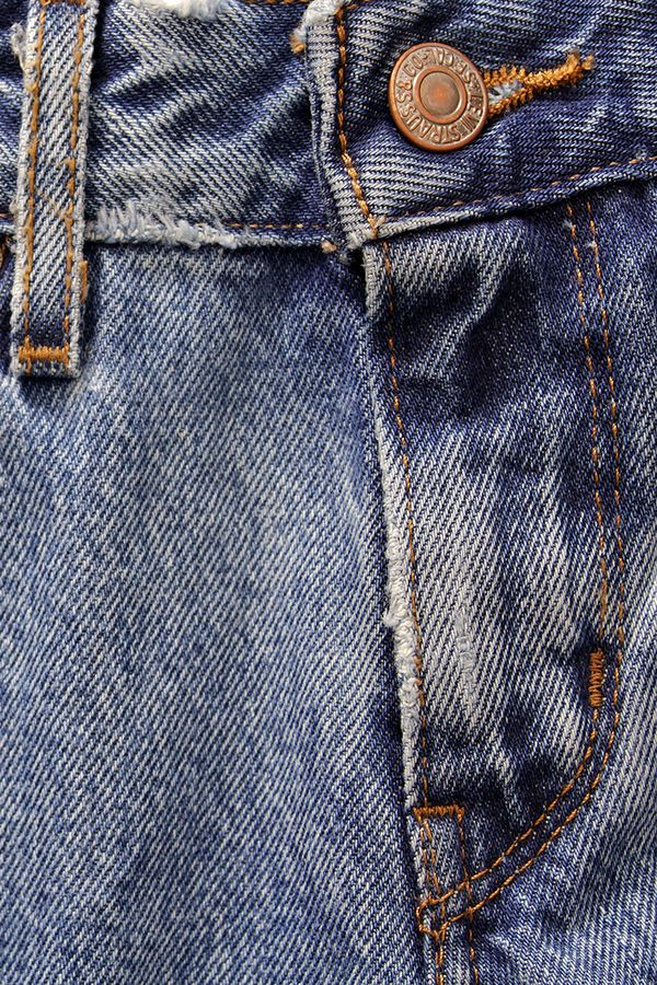 Levi's jeans treated with the new NoStone technique