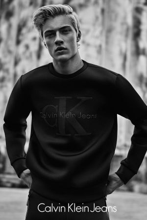 Lucky Blue Smith in CK Jeans' Black Series (photo: 2015 Rory Payne)