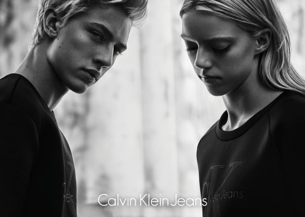 Lucky Blue and Pyper America Smith in the CK Jeans campaign (photo: 2015 Rory Payne)