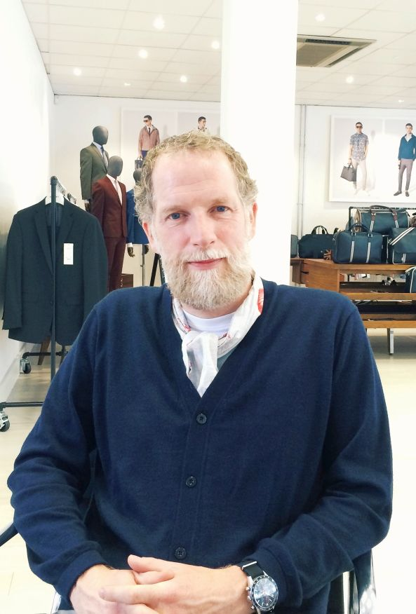 Mark Maidment in Ben Sherman's London headquarters last month