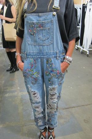 Mad Almadal denim dungaree spotted at Capsule NYC