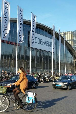 Main facade at RAI Amsterdam, venue of Modefabriek