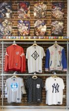 Major League Baseball pop-up store in London.