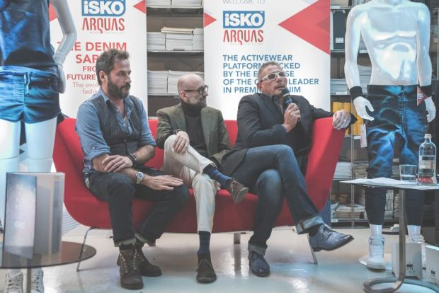 Marco Lucietti (right, holding the microphone), global marketing director at Isko