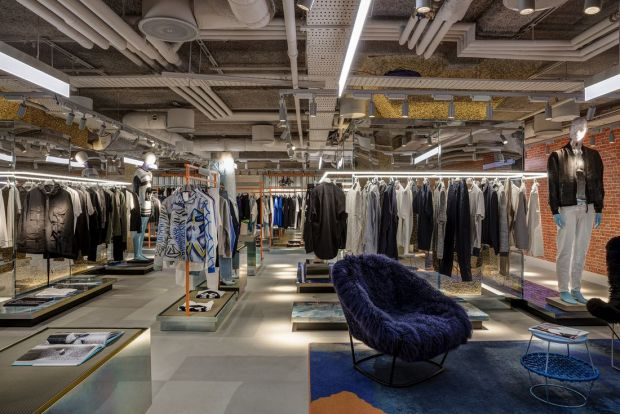 Men's contemporary fashion area