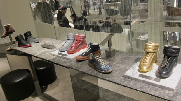 Men's shoes at the new Barneys
