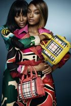 Naomi Campbell and Jourdan Dunn for the Burberry S/S 15 campaign