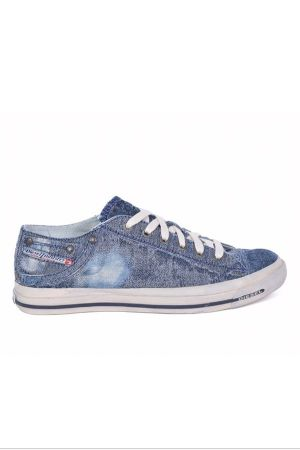 New Diesel sneaker featuring the Scratch'N'Jeans denim developed by Isko
