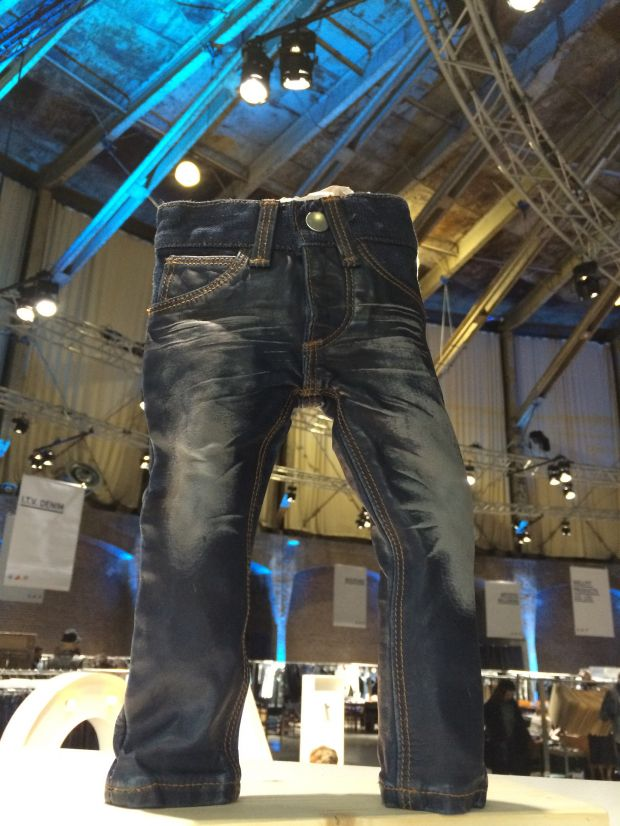 Okinawa blue indigo leather jeans at Kingpins Amsterdam