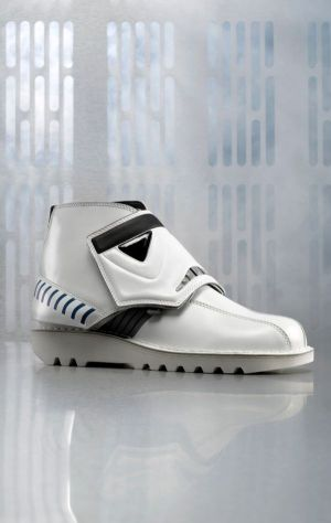 One shoe model of the new collection by Kickers x Star Wars