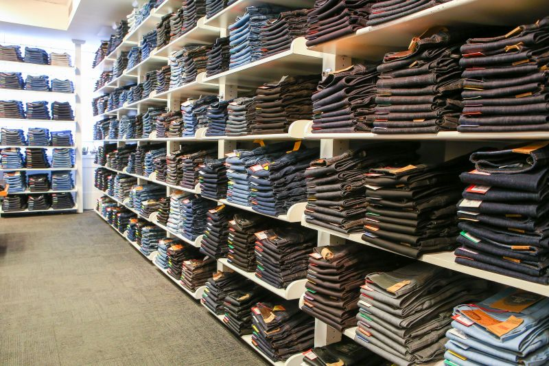 Anyone hungry? The store's jeans wall will satisfy the appetite of all denim freaks.