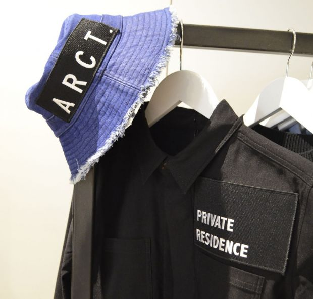 Patched hat and shirt by ARCT