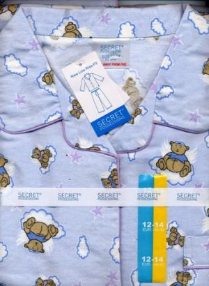 Primark's pajama using Westfield's Teddy Bear Angel design
