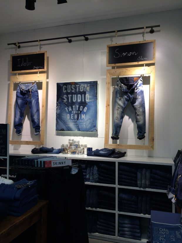 Product display at the Pepe Jeans store in Berlin