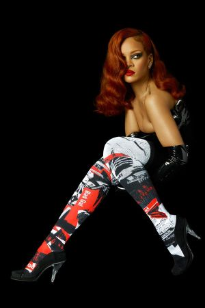 Rihanna in the 'Murder Rih Wrote' overknee socks by Stance