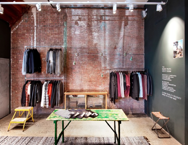 Sales space at Nudie Jeans New York
