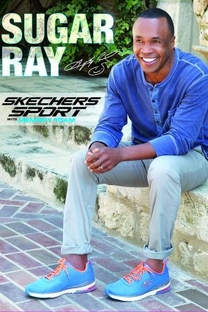 Skechers ad featuring American former professional boxer Sugar Ray Leonard