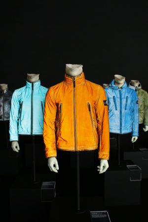 Stone Island jackets at the retrospective exhibition
