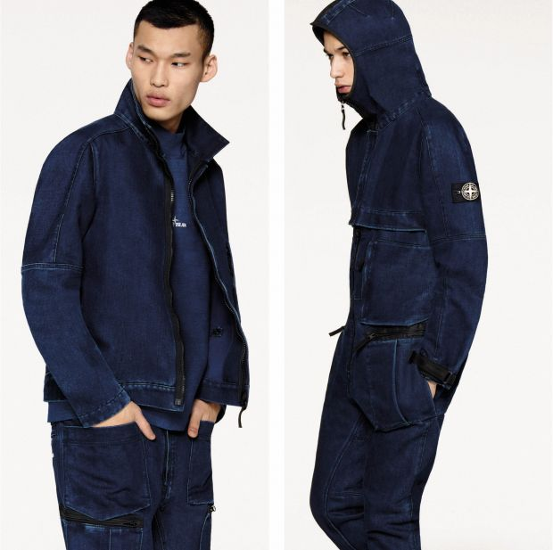 Stone Island's new polypropylene denim