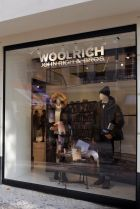 Store front of the new Berlin Woolrich store