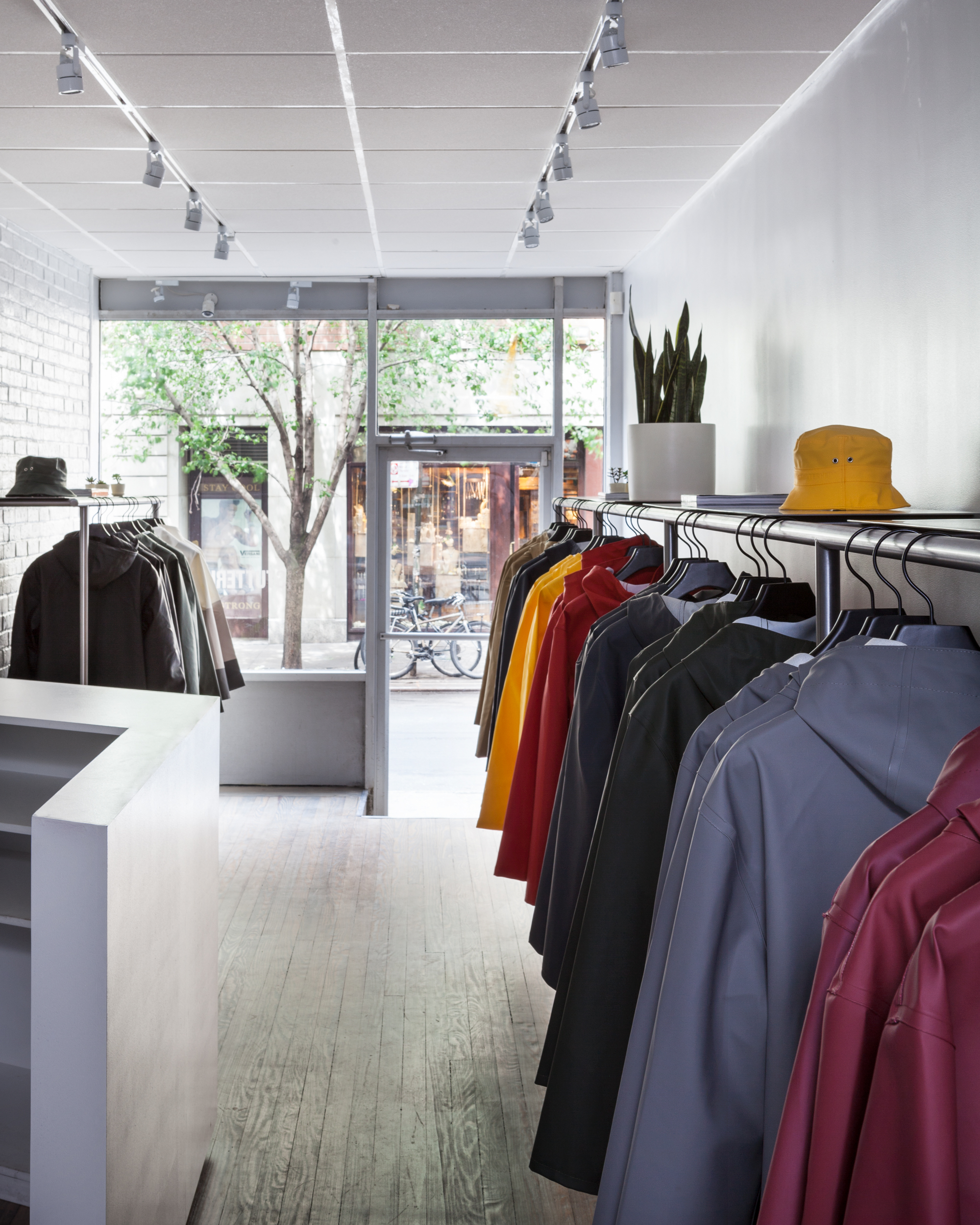 Stutterheim New York: Store interior.