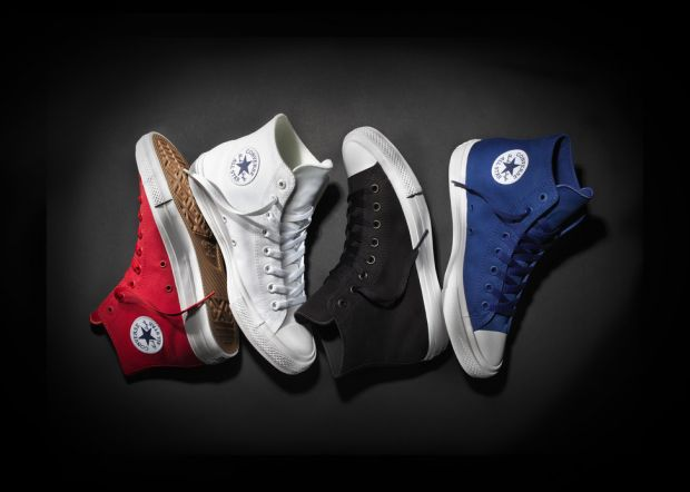 The Chuck Taylor All Star 2 comes out in colours black, red, blue and white