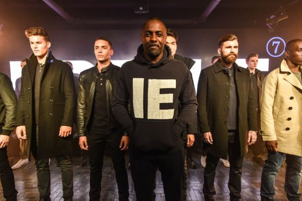 The actor at the Idris Elba x Superdry presentation in London