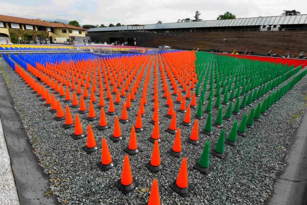 That's Pitticolor! installation at Piazzale Centrale by Oliviero Baldini