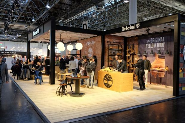 Timberland's booth at the last edition of shoe fair GDS in Düsseldorf