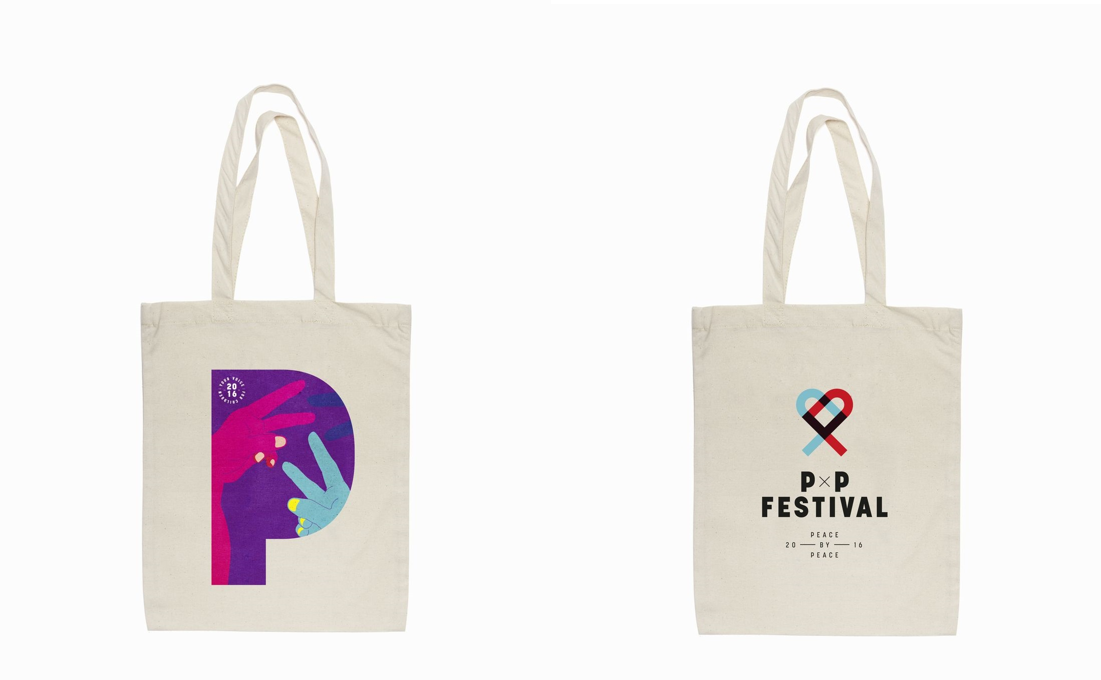 P x P Festival tote bags by Timezone.