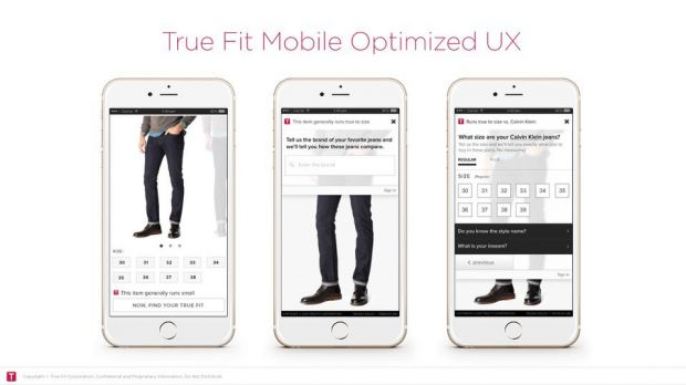 True Fit on mobile