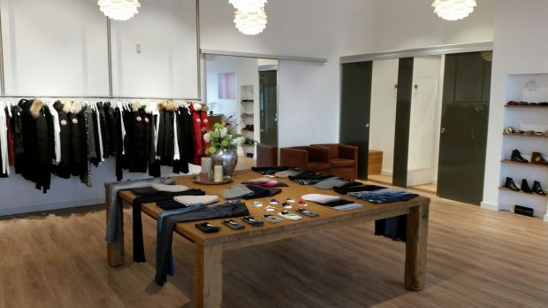 View of the recently-opened Volls women's store