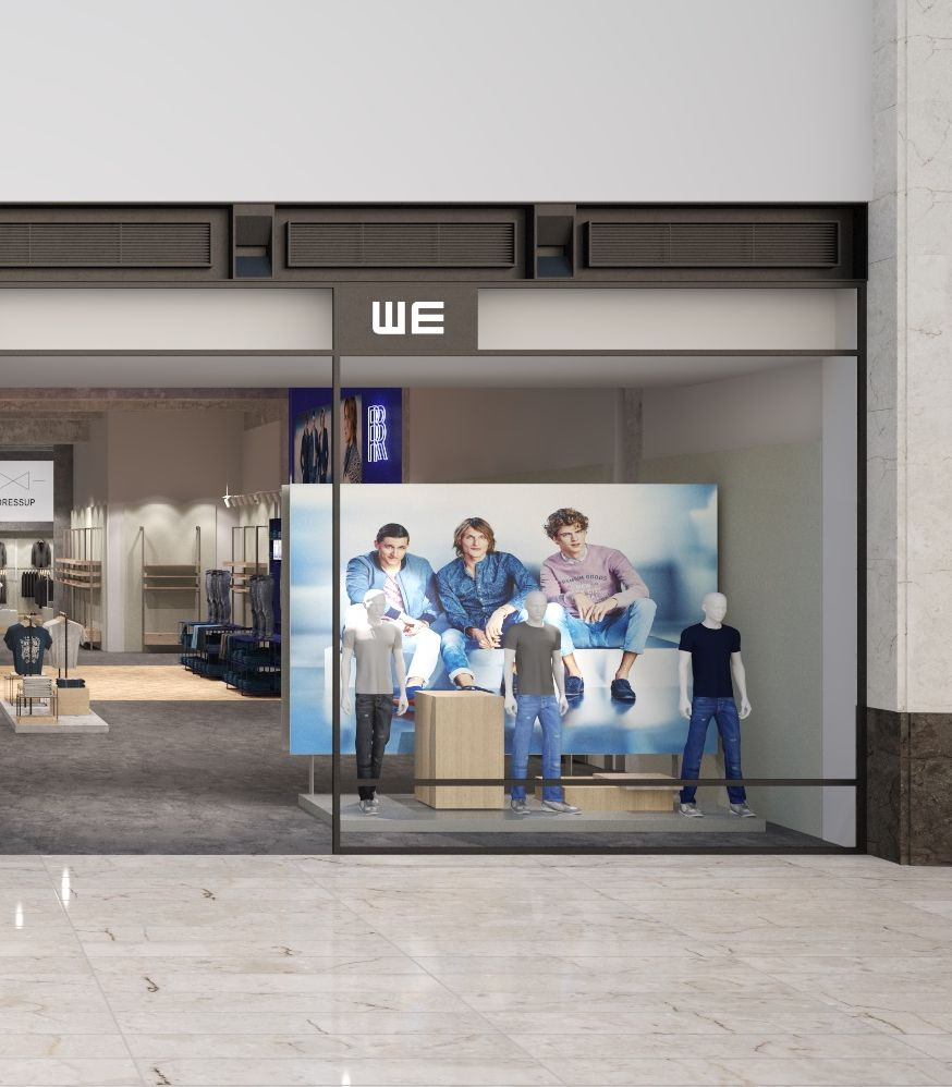 WE Fashion flagship rendering, Oberhausen