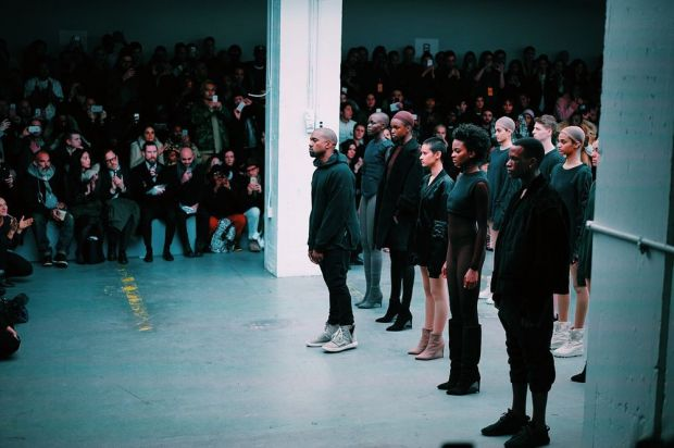 Yeezy 1 fall/winter'15 runway show in New York (Image: Getty Images for adidas)