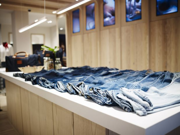 denim bar at new True Relgion store in London