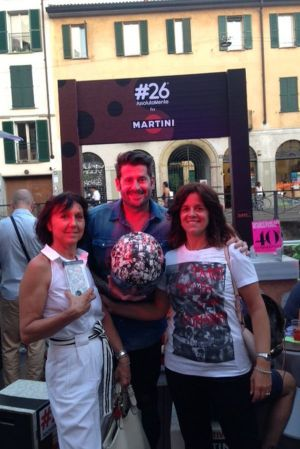from left: Laura Smagliato (PR, Your Image, Milan), Laura Pianazza (SI) and Vittorio Gucci (founder #26MPFA)