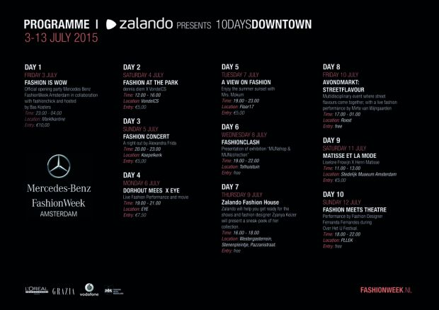 program of Zalando's 10 Days Downtown