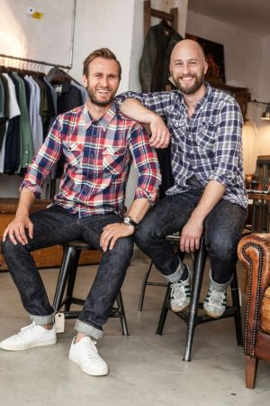 Stephan and Thomas, founders of stuf|f fine goods in Düsseldorf.