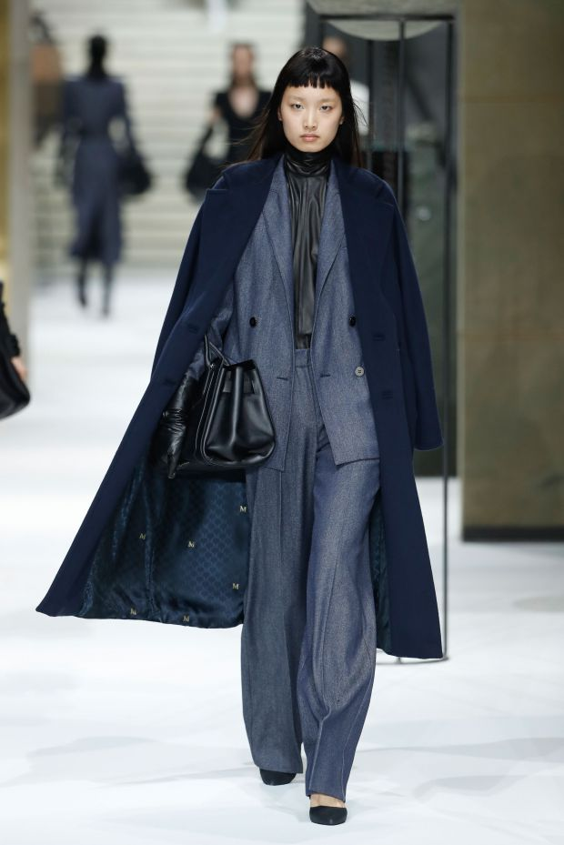 A wool denim look from Max Mara's pre-fall '17 collection