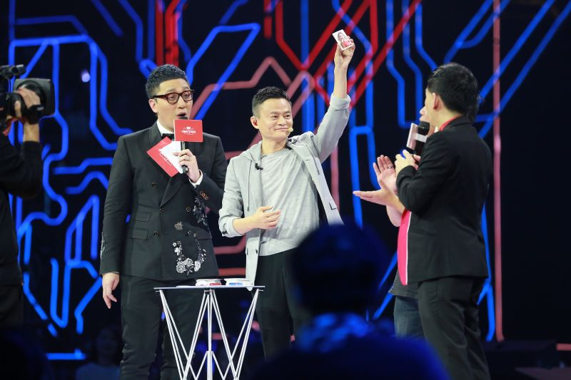 Jack Ma (center), founder of the Alibaba Group.