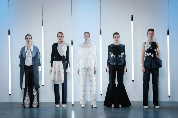 Anbasja Blanken and ITV Denim won the Best Collection Award for their self-illuminating semi-couture dresses