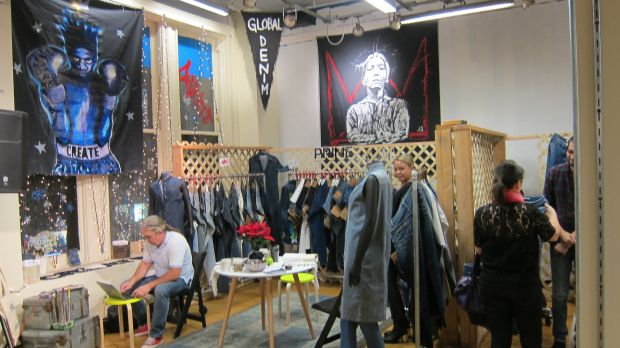 Global Denim booth at BPD expo New York City.