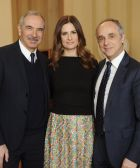 From left: Carlo Capasa, Livia Firth, Michele Scannavini