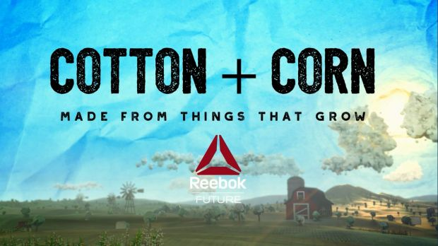 Cotton + Corn logo by Reebok