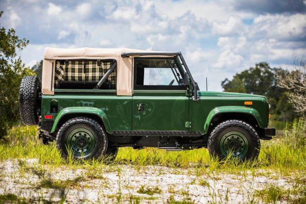 Custom 1995 Land Rover Defender Barbour edition