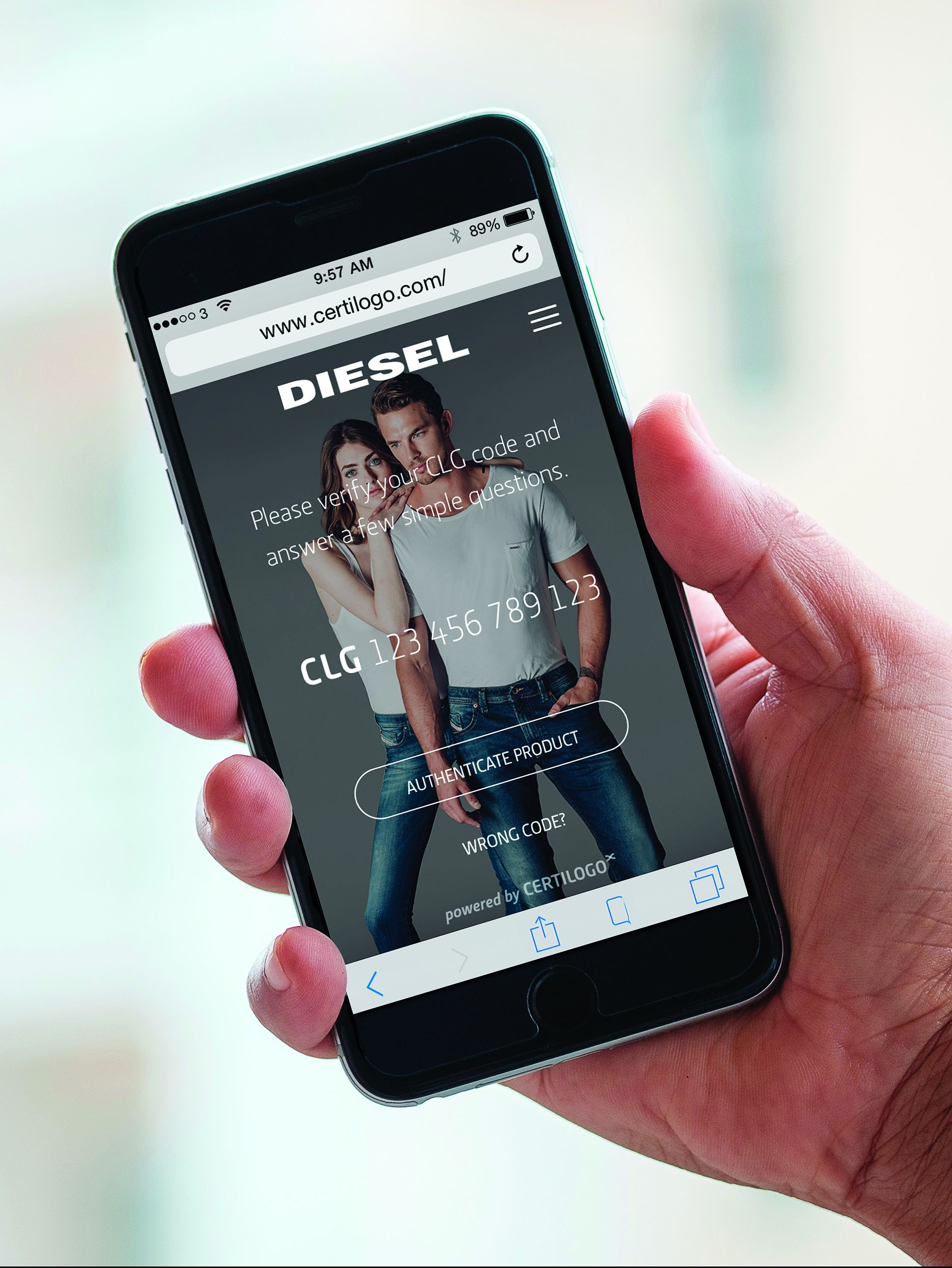 Diesel teams up with Certilogo to protect consumers from counterfeiters