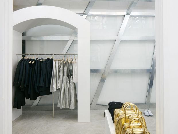Inside the first branch of Dover Street Market in South East Asia.